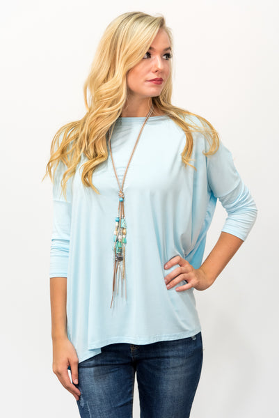 Piko Perfect 3/4 Sleeve Top in Islande Paradise