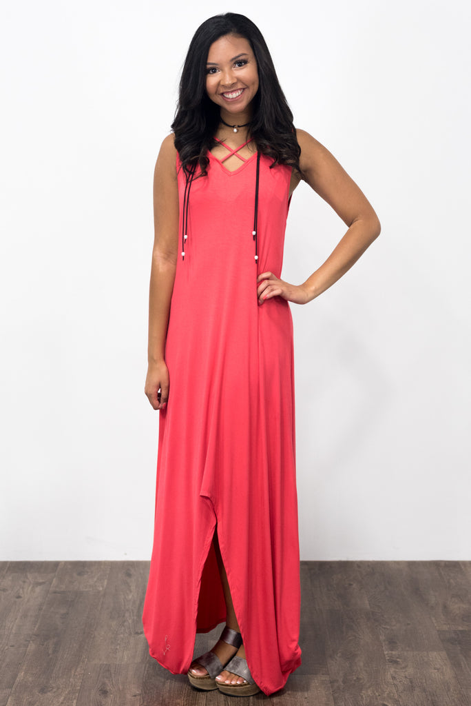 Friday Night Maxi in Coral