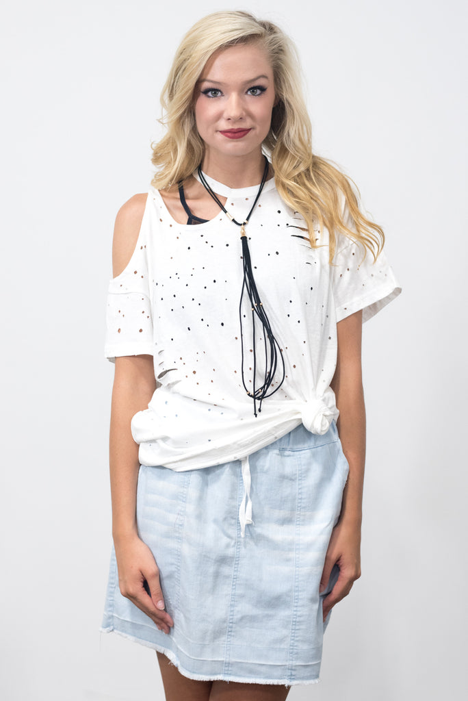 Sky's The Limit Top in White