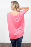Piko Knot Top in Coral