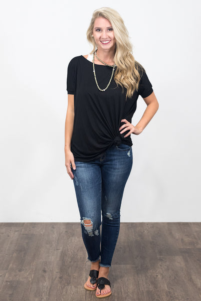Piko Knot Top in Black