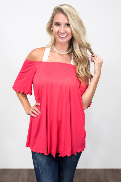 Flutter Piko Top in Watermelon