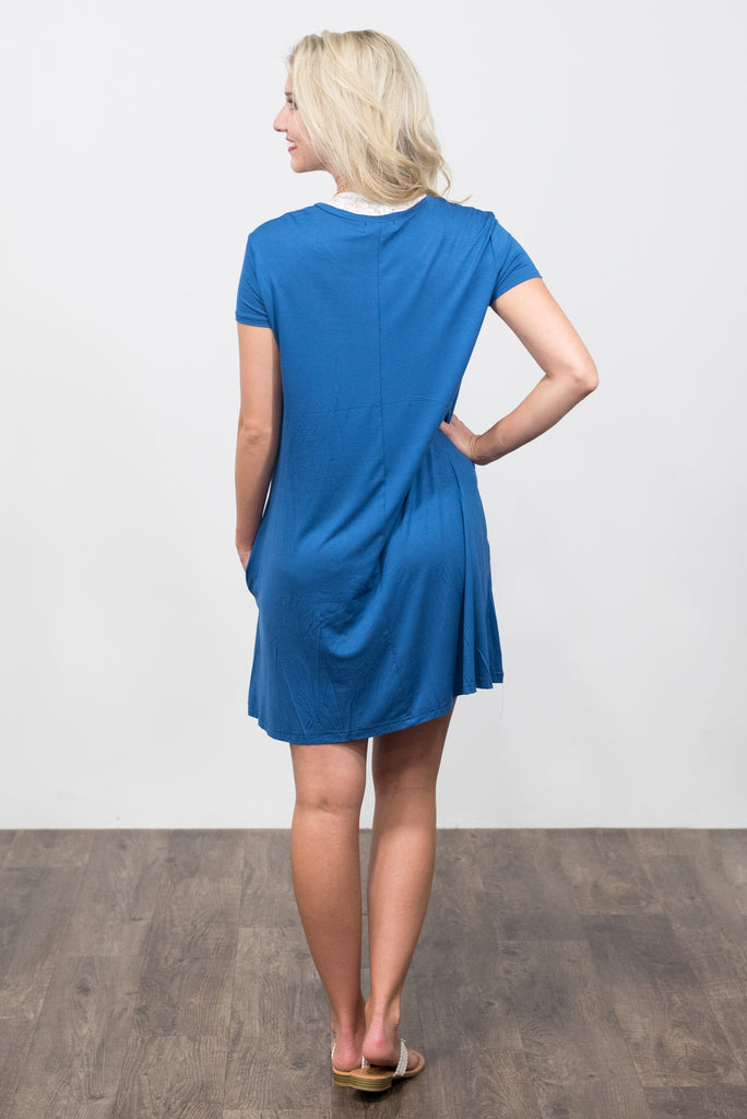 Swing Style Piko Dress in Denim