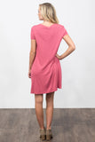 Swing Style Piko Dress in Mauve