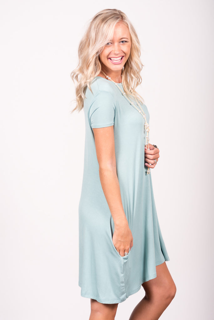 Swing Style Piko Dress in Seafoam