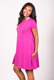 Swing Style Piko Dress in Orchid