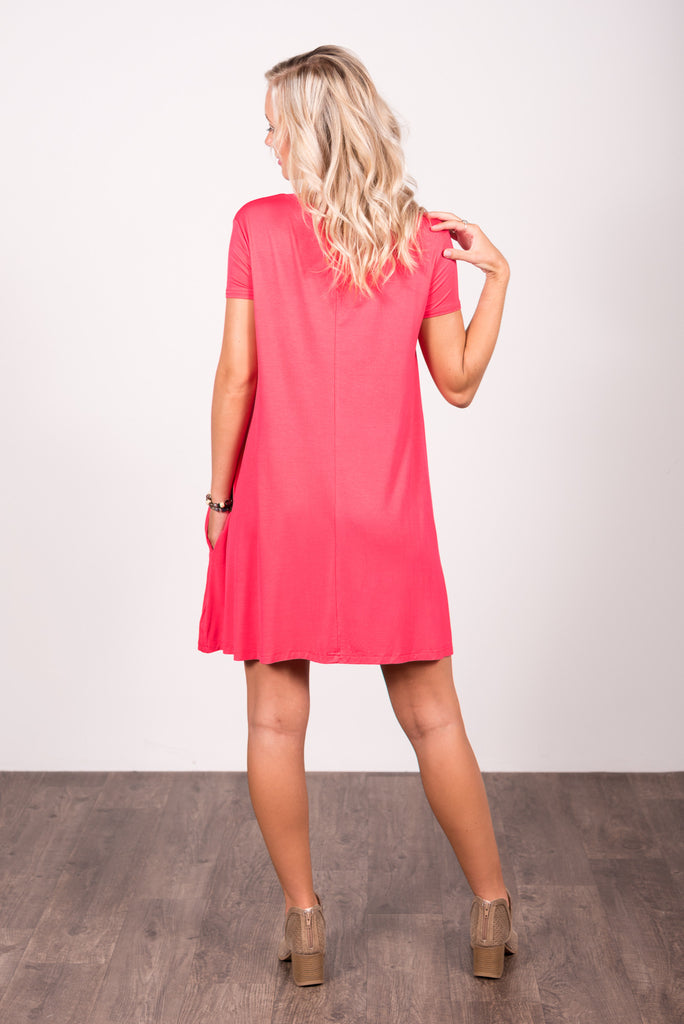 Swing Style Piko Dress in Watermelon
