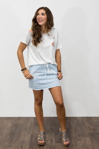 Sandy Denim Skirt
