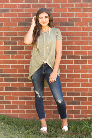 Twisted Together Top in Sage