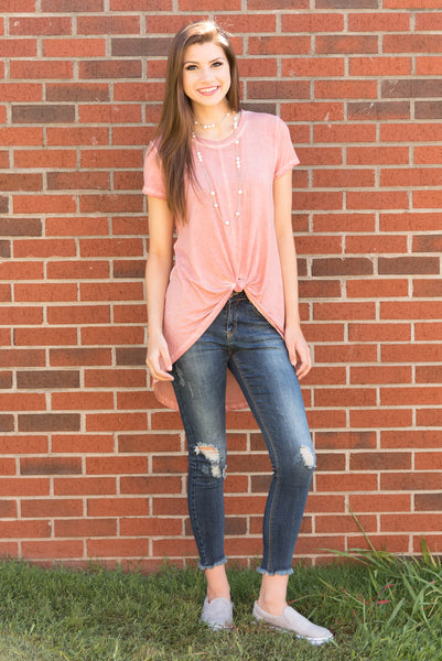 Twisted Together Top in Mauve