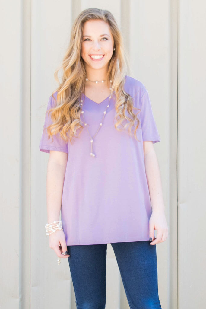 Piko Short Sleeve in Light Purple (V-Neck)