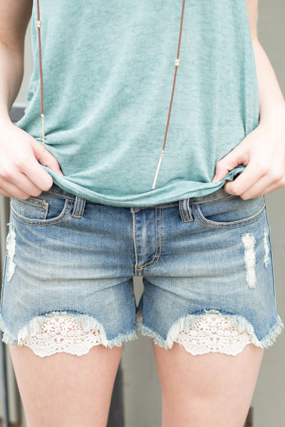 Hide Away Denim Shorts