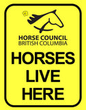 """Horses Live Here"" Sign"