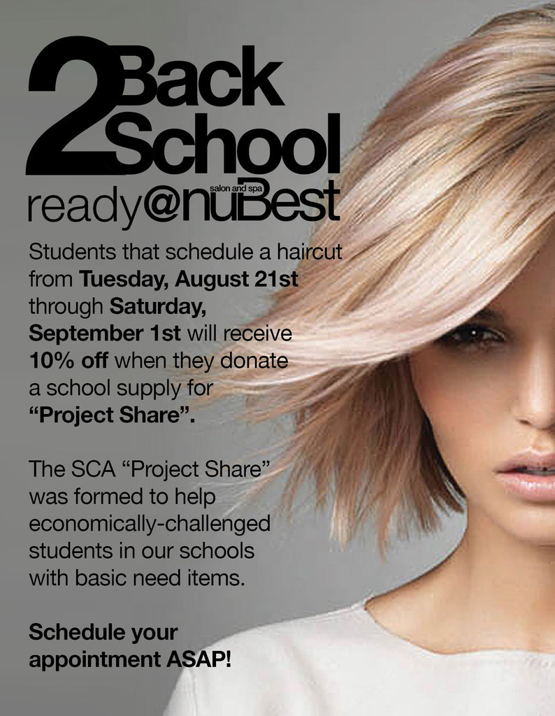 Back 2 School Ready At Nubest Nubest Salon