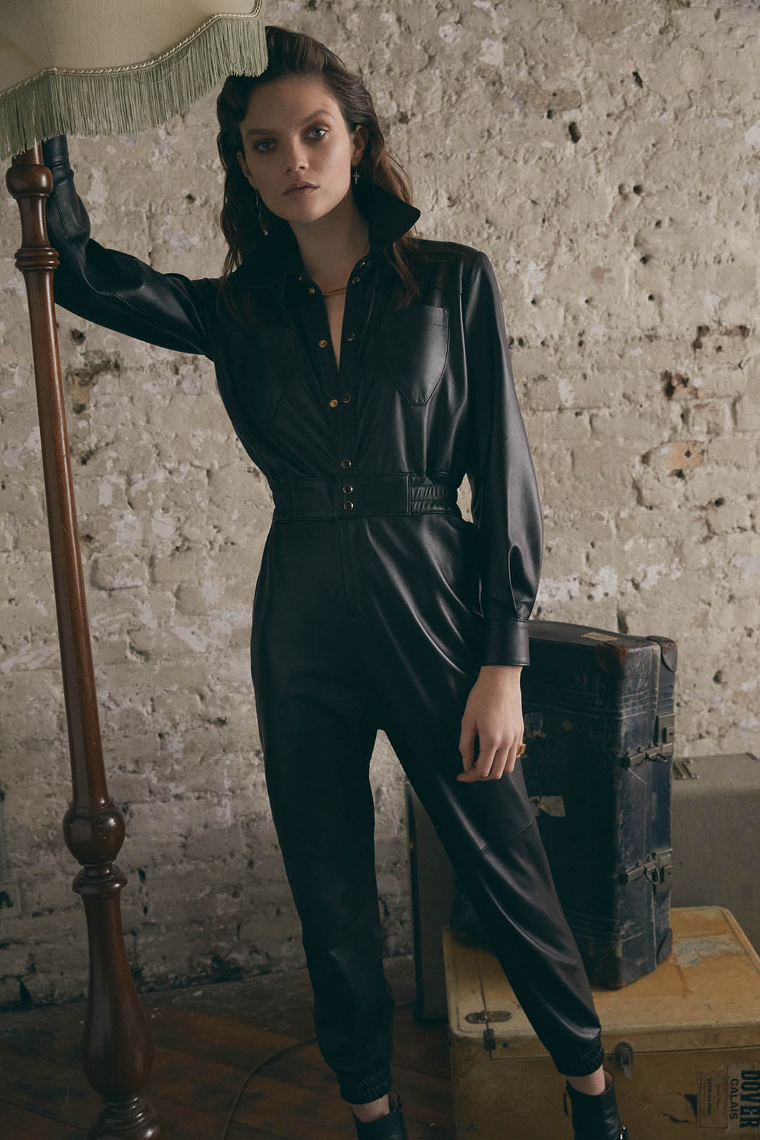 LEATHER JUMPSUIT