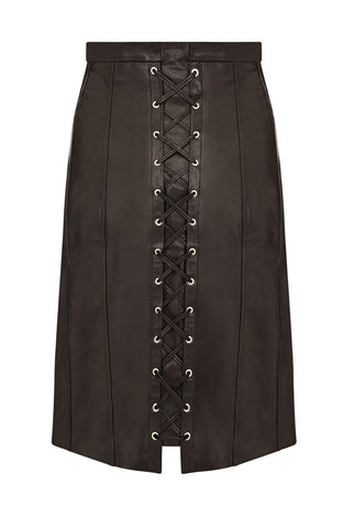 LEATHER CORSET SKIRT