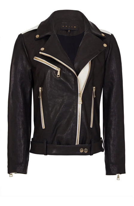 MONOCHROME LEATHER BIKER
