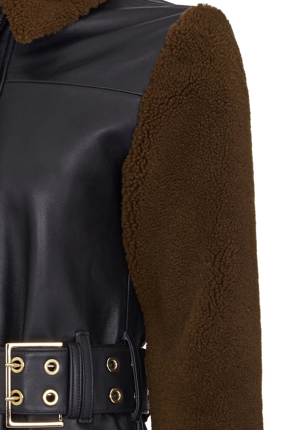 SHEARLING SLEEVE COAT