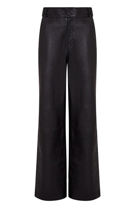 tuxedo stripe leather trouser | stripe trouser outfit | leather tuxedo trouser