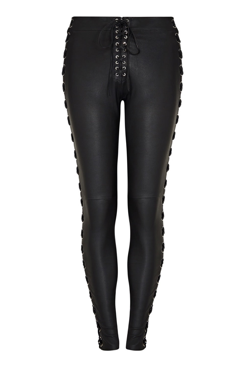 LEATHER LACE-UP LEGGING