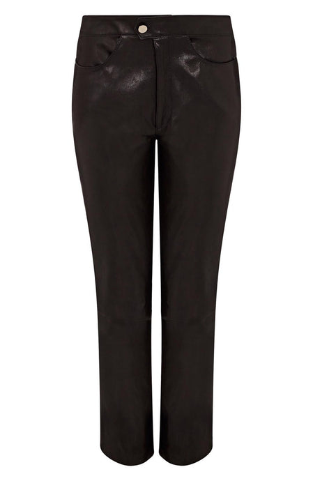 leather cropped pants | womens cropped leather pant | cropped leather pant