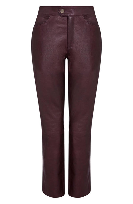 cropped leather pant | leather cropped pants | womens cropped leather pant