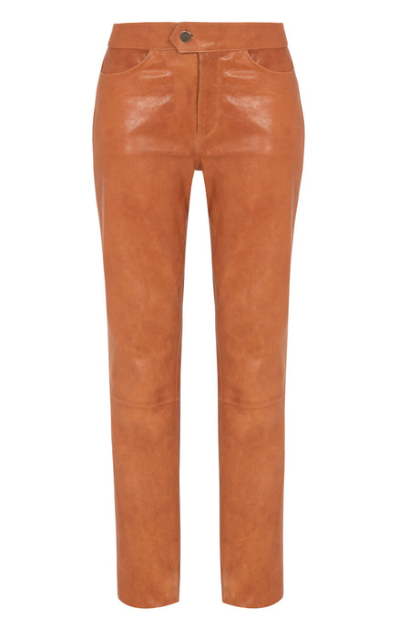 cropped leather pan | leather cropped pants | womens cropped leather pant