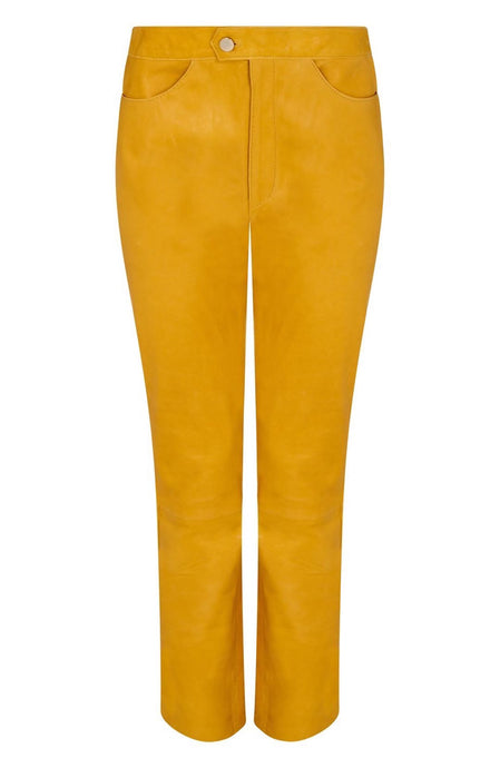 yellow leather trousers | women trousers | women trousers pattern
