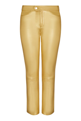 CROPPED LEATHER PANT