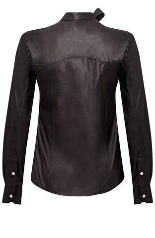 LEATHER TIE SHIRT