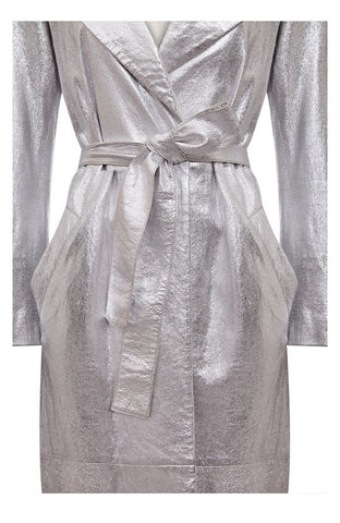 FOIL LEATHER TRENCH