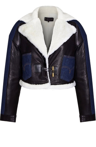 HYBRID LEATHER/DENIM JACKET