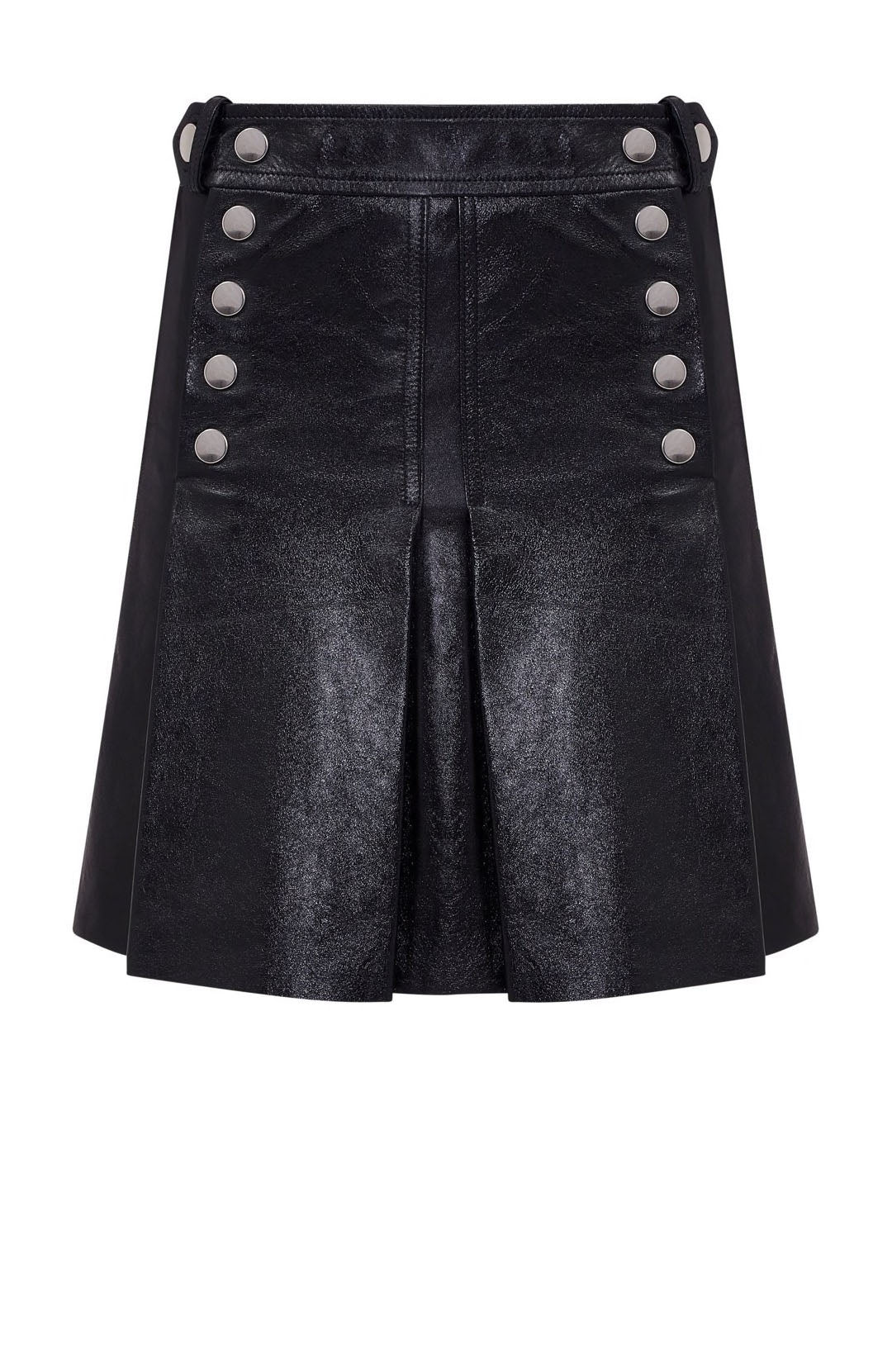 LEATHER PLEAT SKIRT