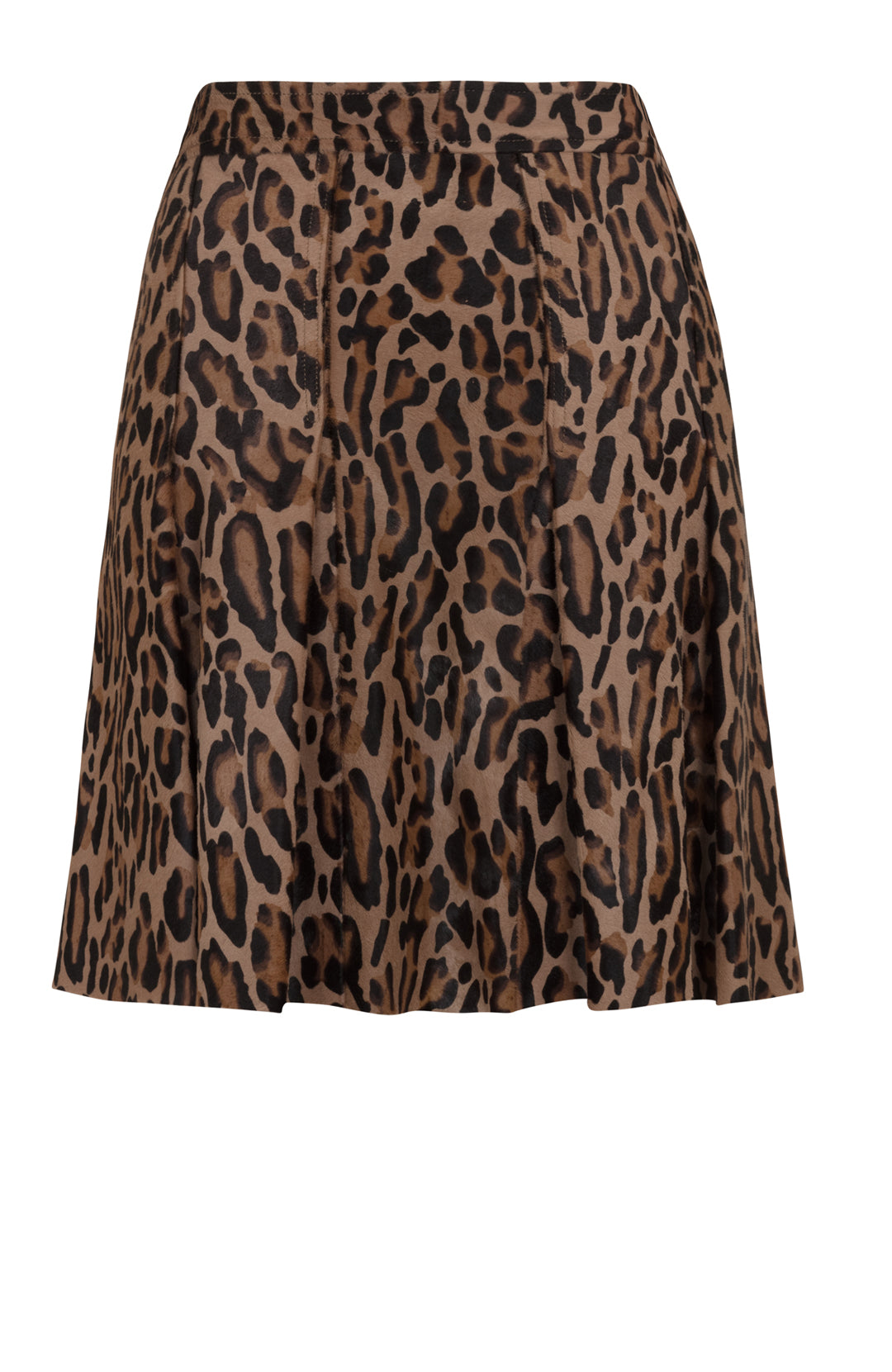 CALF HAIR PLEAT SKIRT