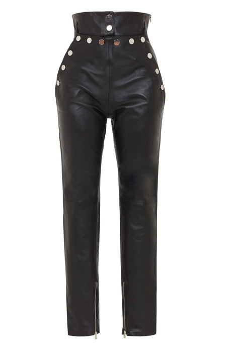 high waist leather pants | high waist leather pants women | black high waist pants