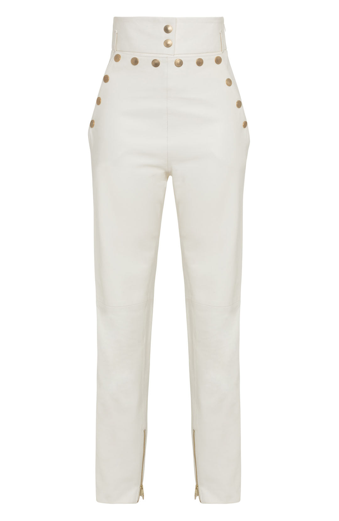 HIGH WAIST STRETCH LEATHER PANT