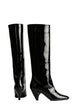 Load image into Gallery viewer, PATENT LEATHER KNEE BOOTS