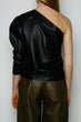 Load image into Gallery viewer, BLACK LEATHER ONE SHOULDER TOP