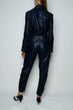 Load image into Gallery viewer, INDIGO LEATHER JUMPSUIT