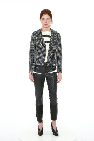 EMBOSSED LEATHER BIKER