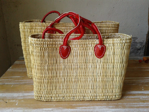 Red Handle Simple Tote