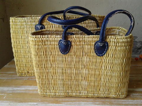 Blue handle baskets