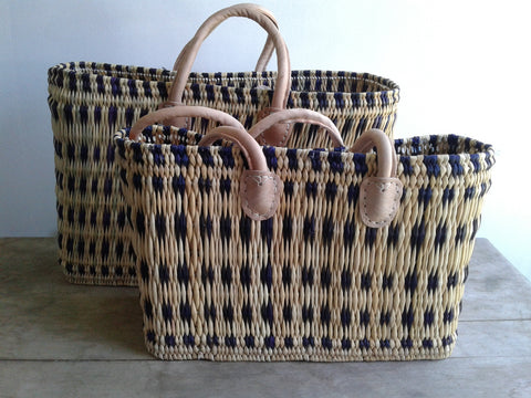 Blue Stripe Totes