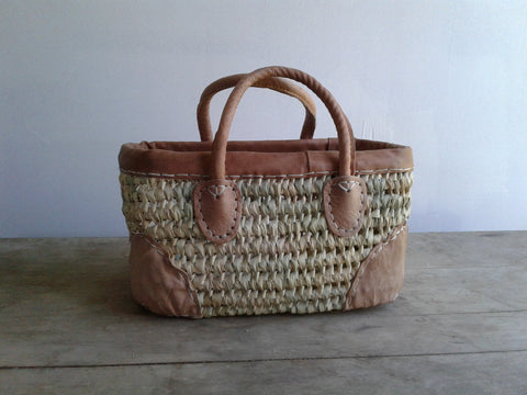 Open Weave with Leather Trim