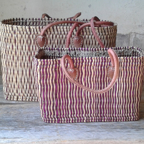 Burgundy Stripe Totes