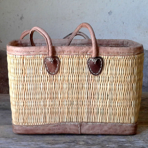 Leather Trimmed Tote