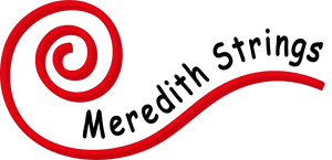 Meredith Strings Scroll Logo