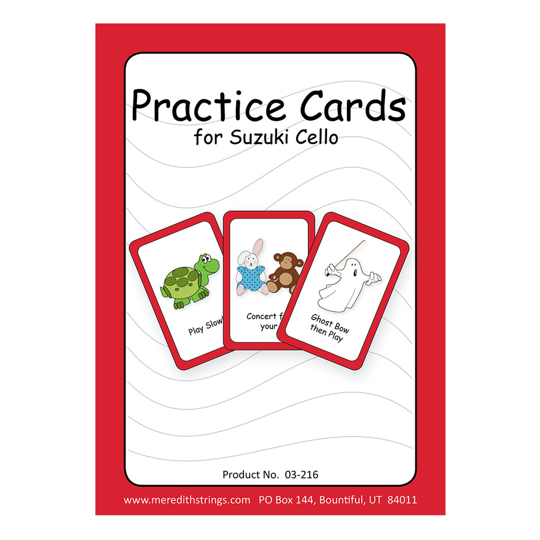 Cello Practice Cards