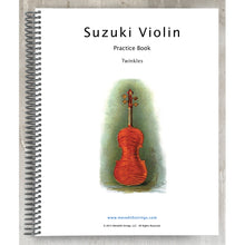 Load image into Gallery viewer, Violin Practice Book