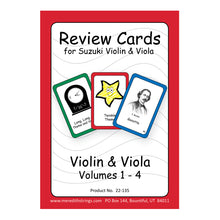 Load image into Gallery viewer, Violin/Viola Review Cards - Volumes 1-4